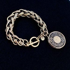 LOFT Chunky Statement Bracelet in Antique Brass